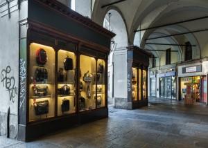 Arbiter, vetrina a pilastro, 2017 © Archivio Storico della Città di Torino