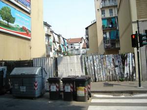 Il sito dove sorgeva il cinematografo Diana.Fotografia di Carlo Pigato, ottobre 2010.