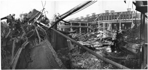Via Cigna 115. Stabilimento FIAT, Sezione Ind. Metallurgiche (S.I.M.A.). Effetti prodotti dai bombardamenti dell'incursione aerea del 29-30 novembre 1942. UPA 2452_9F02-22. © Archivio Storico della Città di Torino