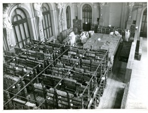 Biblioteca civica, sede temporanea di Palazzo Carignano, 1948-1958. Biblioteca civica Centrale © Biblioteche civiche torinesi