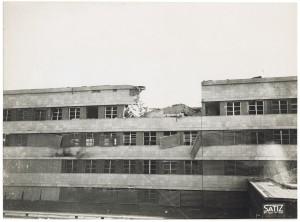 FIAT Autocentro - Stabilimento di Mirafiori. Effetti prodotti dal bombardamento dell'incursione aerea del 20-21 novembre 1942. UPA 2202_9B06-01. © Archivio Storico della Città di Torino