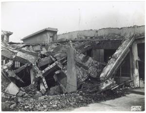 FIAT Lingotto Via Nizza (?). Effetti prodotti dai bombardamenti dell'incursione aerea dell'8-9 dicembre 1942. UPA 2844_9D02-06. © Archivio Storico della Città di Torino