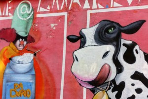 Associazione Artefatti, senza titolo, dettaglio del murale 2010, asilo Durio. Fotografia di Roberto Cortese, 2017 © Archivio Storico della Città di Torino