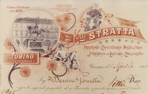Intestazione di una lista di pagamento della confetteria Stratta, 11 aprile 1905.