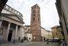 Il campanile di Sant'Andrea presso il Santuario della Consolata (1). Fotografia di Marco Saroldi, 2010. © MuseoTorino.