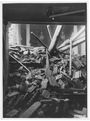 Corso Filippo Turati, Ospedale Mauriziano Umberto 1°. Effetti prodotti dai bombardamenti dell'incursione aerea del 28-29 Novembre 1942. UPA 2221_9C01-05. © Archivio Storico della Città di Torino
