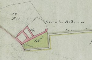 Cascina Saffarona. Mappa primitiva Napoleonica, 1805. © Archivio Storico della Città di Torino