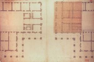 Filippo Juvarra, Planimetria dell'esedra dei Quartieri Militari, 1716. © Biblioteca Reale di Torino