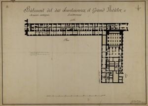 Giuseppe Battista Piacenza, Rilievo delle Segreterie di Stato e del Teatro, 1806. © Archivio di Stato di Torino, Palazzi Reali