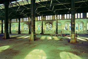 OGR. Fabbricati Caldareria e Montaggio locomotive e ramo nord-est, 2003. Fotografia Sante Prevarin. © Museo Ferroviario Piemontese per MuseoTorino