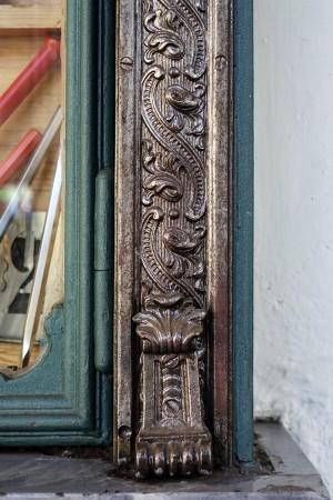Ferramenta Ghione, particolare decorativo della devanture, 2017 © Archivio Storico della Città di Torino