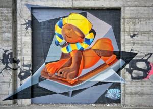 Vesok, Progetto MurArte 2018, La nostra città, via Nino Oxilia. Fotografia di Roberto Cortese, 2018 © Archivio Storico della Città di Torino