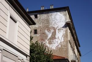 Vhils, murale senza titolo, 2013, via Nizza