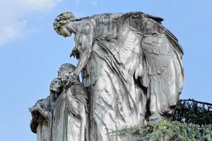 28s Edoardo Rubino (1871-1954)scultore, architetto Giuseppe Velati Bellini (1867-1926) Monumento Gambaro, 1919 (A 444). Fotografia di Roberto Cortese, 2018