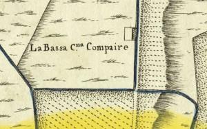 Cascina Bassa di Stura, già La Modesta. Amedeo Grossi, Carta Corografica dimostrativa del territorio della Città di Torino, 1791, © Archivio Storico della Città di Torino