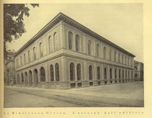 Biblioteca civica Centrale, corso Palestro angolo via Bertrandi, 1929. Biblioteca civica Centrale © Biblioteche civiche torinesi