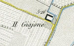 Cascina Giajone. Antonio Rabbini , Topografia della Città e Territorio di Torino, 1840. © Archivio Storico della Città di Torino