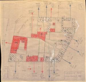 Bombardamenti aerei. Censimento edifici danneggiati o distrutti. ASCT Fondo danni di guerra inv. 1777 cart. 37 fasc. 3. © Archivio Storico della Città di Torino
