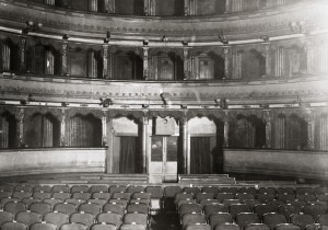 Teatro Gianduja, interno. Fotografia di Chomon, 1978, dalla