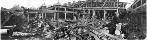 Via Cigna 115. Stabilimento FIAT, Sezione Ind. Metallurgiche (S.I.M.A.). Effetti prodotti dai bombardamenti dell'incursione aerea del 29-30 novembre 1942. UPA 2451_9F02-21. © Archivio Storico della Città di Torino