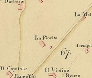 Cascina La Marchesa, già La Florita. Piano dimostrativo della città e territorio di Torino, 1833, © Archivio Storico della Città di Torino