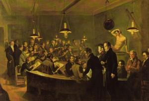 Giovanni Battista Biscarra, La scuola serale del nudo all'Accademia Albertina, 1821. Collezione privata