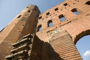 Particolare della Porta Palatina. Fotografia di Marco Saroldi, 2010. © MuseoTorino.