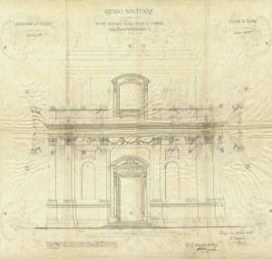 Progetto della facciata della chiesa di Santa Croce, 1873 © Archivio Storico della Città di Torino (Affari Gabinetto del Sindaco, anno 1873, cart.35, fasc. 13).
