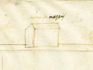 Cascina Berlia. Disegno dei termini e delle vie tra Torino e Collegno, s.d., © Archivio Storico della Città di Torino