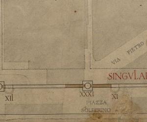 Tratto di mura della città romana in piazza Solferino