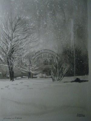 Alfredo Negro, Giardini di Porta Nuova, 2010, acquerello