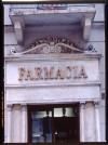 Farmacia della Rocca, particolare dell'ingresso, 1998 © Regione Piemonte