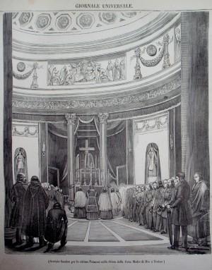 Servizio funebre per le vittime francesi nella chiesa della Gran Madre di Dio, da
