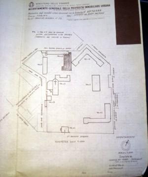 Planimetria scala 1:1000 dell'Istituto Buon Pastore di corso Principe Eugenio 12, 1939. ©Archivio di Stato di Torino