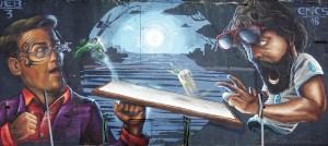 Encs, murale senza titolo, 2018, cavalcavia di corso Bramante. Fotografia di Roberto Cortese, 2018 © Archivio Storico della Città di Torino