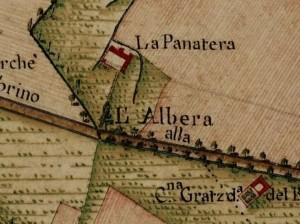 Cascina Panatera. Carta Topografica della Caccia, 1760-1766 circa. © Archivio di Stato di Torino