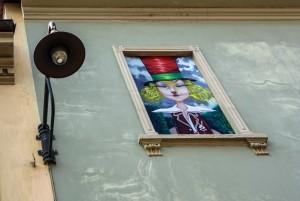 Angelo Barile, Cappellaio matto, 2013, via Musinè 12A, MAU Museo Arte Urbana. Fotografia di Roberto Cortese, 2017 © Archivio Storico della Città di Torino