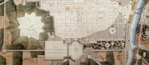 Gaetano Lombardi, Particolare del progetto urbanistico del 1817 che ribadiva la posizione della piazza d'armi.Archivio Storico della Città di Torino, Tipi e disegni.© Archivio Storico della Città di Torino