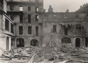Sede ditta Colli MIRAM, già Martinotti, in via Barbaroux, edificio bombardato © Archivio Pier Luigi Colli