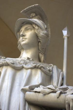 Monumento a Minerva, particolare. Fotografia di Giuseppe Caiafa, 2011.