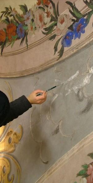 I lavori di restauro a villa Amoretti. © Città di Torino.