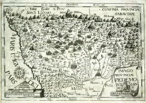 Carta geografica del Piemonte, 1712