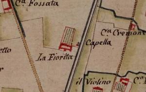 Cascina La Marchesa, già La Florita. Carta delle Regie Cacce, 1816. © Archivio di Stato di Torino