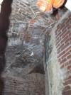 Dettaglio delle strutture del piano interrato del quartiere Esagono visibili negli scantinati di via Montecuccoli n. 6. Fotografia di Fabrizio Zannoni per MuseoTorino.