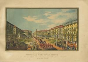 Ricordi delle feste torinesi dell'aprile 1842 per le nozze tra Vittorio Emanuele e Maria Adelaide. © Archivio Storico della Città di Torino