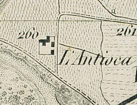 Cascina Antiochia. Antonio Rabbini, Carta topografica dei contorni di Torino, 1878. © Archivio Storico della Città di Torino