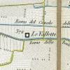 Cascina Le Vallette. Antonio Rabbini , Topografia della Città e Territorio di Torino, 1840. © Archivio Storico della Città di Torino