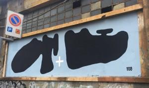 108, murale senza titolo, 2016, tra corso Dante e via Egeo