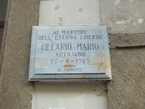 Lapide in memoria di Mario Cillario in via Palazzo di città 14D. Fotografia di Paola Boccalatte, 2014. © MuseoTorino