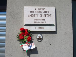Lapide dedicata a Ghiotti Giuseppe (1876 - 1945)